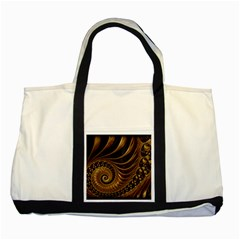 Fractal Spiral Endless Mathematics Two Tone Tote Bag