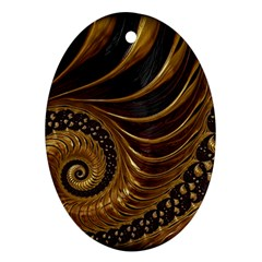 Fractal Spiral Endless Mathematics Oval Ornament (two Sides)