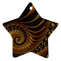 Fractal Spiral Endless Mathematics Star Ornament (two Sides)