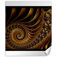 Fractal Spiral Endless Mathematics Canvas 8  x 10