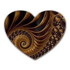 Fractal Spiral Endless Mathematics Heart Mousepads