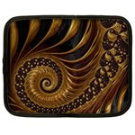 Fractal Spiral Endless Mathematics Netbook Case (XXL)  Front