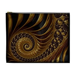 Fractal Spiral Endless Mathematics Cosmetic Bag (xl)