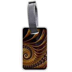 Fractal Spiral Endless Mathematics Luggage Tags (two Sides)
