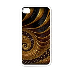 Fractal Spiral Endless Mathematics Apple Iphone 4 Case (white)