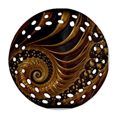 Fractal Spiral Endless Mathematics Round Filigree Ornament (two Sides)