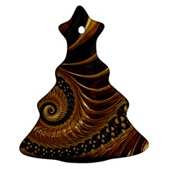 Fractal Spiral Endless Mathematics Christmas Tree Ornament (two Sides)