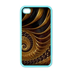 Fractal Spiral Endless Mathematics Apple Iphone 4 Case (color)
