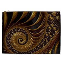 Fractal Spiral Endless Mathematics Cosmetic Bag (xxl)