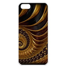 Fractal Spiral Endless Mathematics Apple Iphone 5 Seamless Case (white)