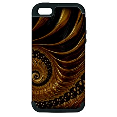 Fractal Spiral Endless Mathematics Apple Iphone 5 Hardshell Case (pc+silicone)