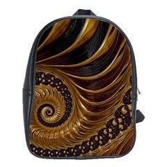 Fractal Spiral Endless Mathematics School Bags (xl)