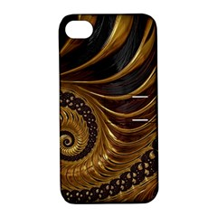 Fractal Spiral Endless Mathematics Apple Iphone 4/4s Hardshell Case With Stand