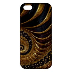 Fractal Spiral Endless Mathematics Apple iPhone 5 Premium Hardshell Case