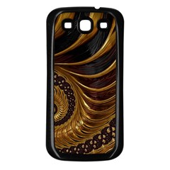 Fractal Spiral Endless Mathematics Samsung Galaxy S3 Back Case (black)