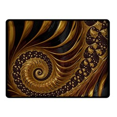 Fractal Spiral Endless Mathematics Double Sided Fleece Blanket (small)