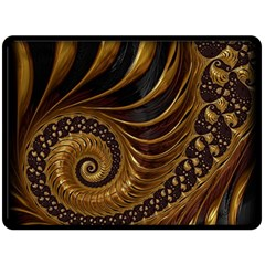 Fractal Spiral Endless Mathematics Double Sided Fleece Blanket (large)