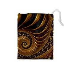 Fractal Spiral Endless Mathematics Drawstring Pouches (medium)