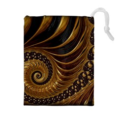 Fractal Spiral Endless Mathematics Drawstring Pouches (extra Large)