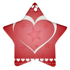 Postcard Banner Heart Holiday Love Ornament (star)