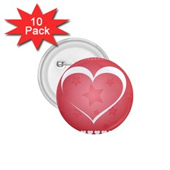 Postcard Banner Heart Holiday Love 1 75  Buttons (10 Pack)