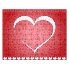 Postcard Banner Heart Holiday Love Rectangular Jigsaw Puzzl