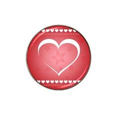 Postcard Banner Heart Holiday Love Hat Clip Ball Marker
