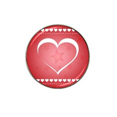 Postcard Banner Heart Holiday Love Hat Clip Ball Marker (4 Pack)