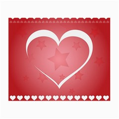 Postcard Banner Heart Holiday Love Small Glasses Cloth