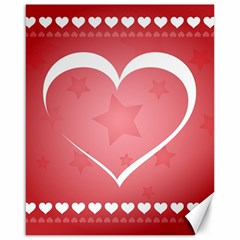Postcard Banner Heart Holiday Love Canvas 16  X 20