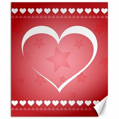 Postcard Banner Heart Holiday Love Canvas 20  X 24