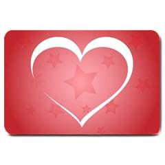 Postcard Banner Heart Holiday Love Large Doormat
