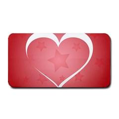 Postcard Banner Heart Holiday Love Medium Bar Mats