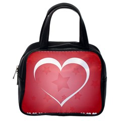 Postcard Banner Heart Holiday Love Classic Handbags (one Side)