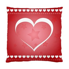 Postcard Banner Heart Holiday Love Standard Cushion Case (two Sides)
