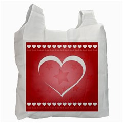 Postcard Banner Heart Holiday Love Recycle Bag (one Side)