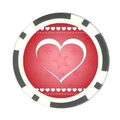 Postcard Banner Heart Holiday Love Poker Chip Card Guard (10 Pack)