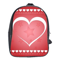 Postcard Banner Heart Holiday Love School Bags(large)