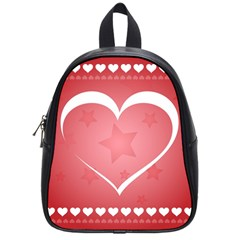 Postcard Banner Heart Holiday Love School Bags (small)