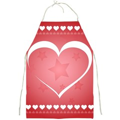 Postcard Banner Heart Holiday Love Full Print Aprons