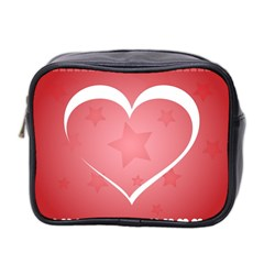 Postcard Banner Heart Holiday Love Mini Toiletries Bag 2 Side