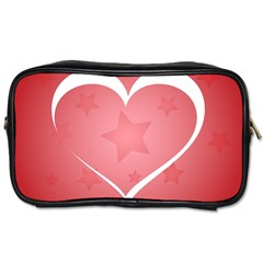 Postcard Banner Heart Holiday Love Toiletries Bags