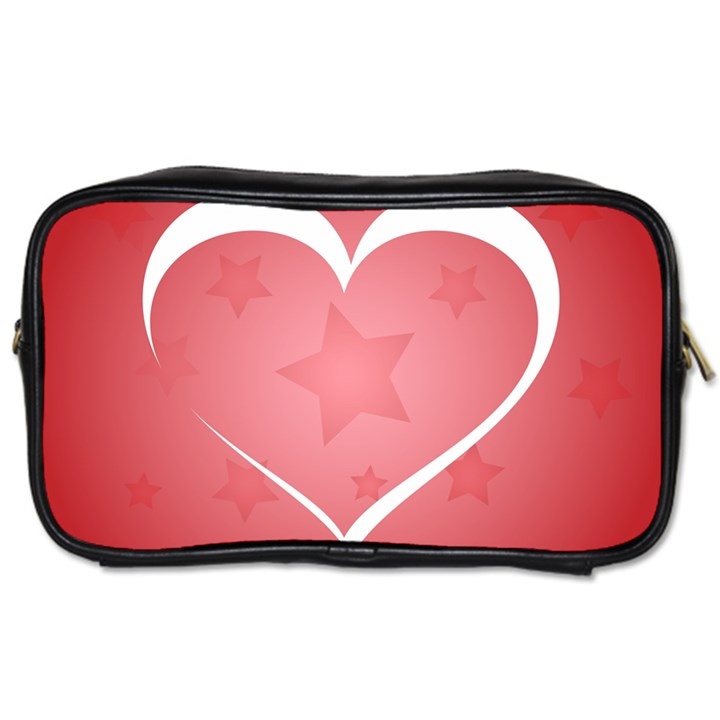 Postcard Banner Heart Holiday Love Toiletries Bags 2-Side