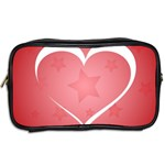 Postcard Banner Heart Holiday Love Toiletries Bags 2-Side Back