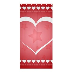 Postcard Banner Heart Holiday Love Shower Curtain 36  X 72  (stall)