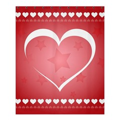 Postcard Banner Heart Holiday Love Shower Curtain 60  X 72  (medium)
