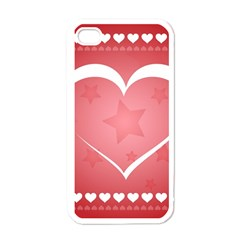 Postcard Banner Heart Holiday Love Apple Iphone 4 Case (white)