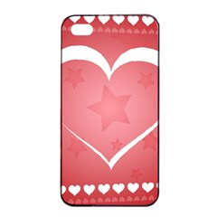 Postcard Banner Heart Holiday Love Apple Iphone 4/4s Seamless Case (black)