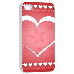 Postcard Banner Heart Holiday Love Apple Iphone 4/4s Seamless Case (white)