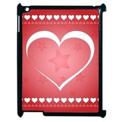Postcard Banner Heart Holiday Love Apple Ipad 2 Case (black)